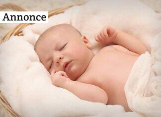 baby sover med hvid støj
